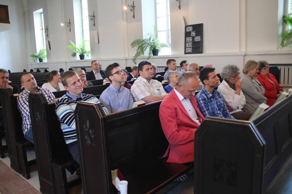 Diecezjalne spotkanie Rad Parafialnych w kościele E-A Wniebowstąpienia Pańskiego w Warszawie.