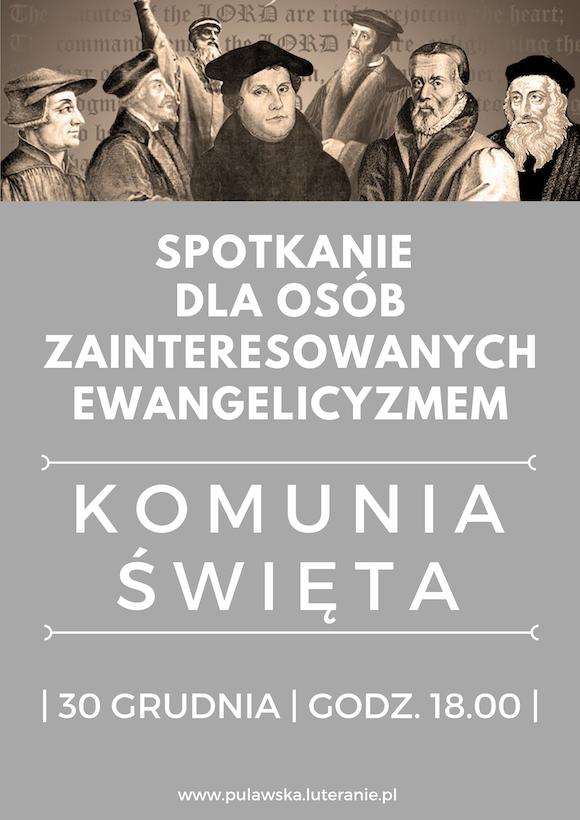 30.12.2019 Spotkanie osób zainteresowanych ewangelicyzmem