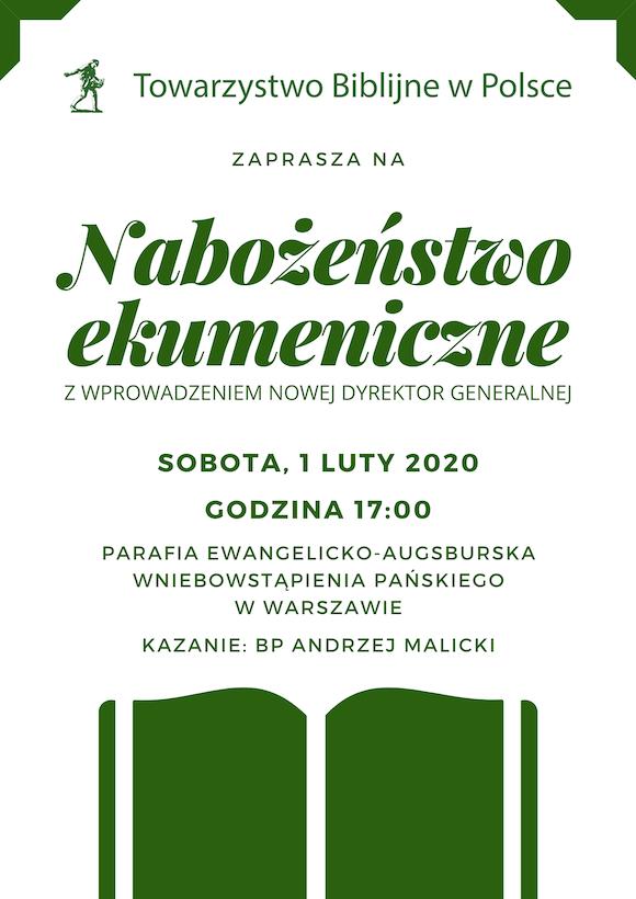 Nabożeństwo ekumeniczne 1.02.2020