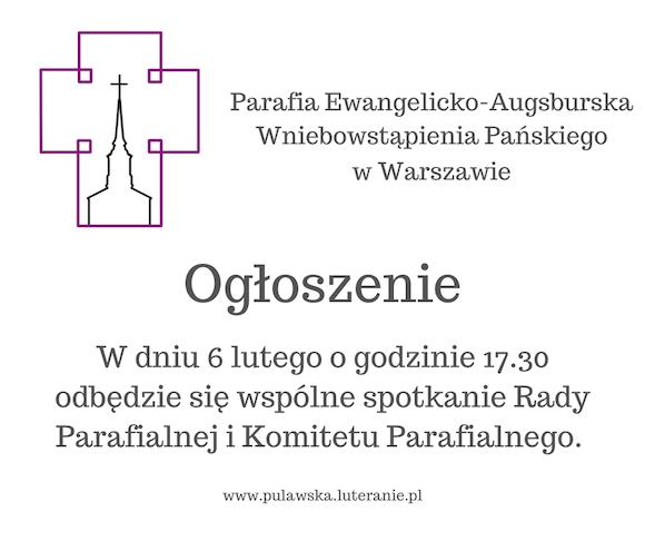 Ogłoszenie - Komitet i Rafa parafialna 3
