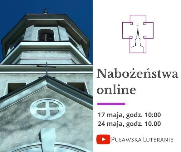 Nabożeństwa online początek maja