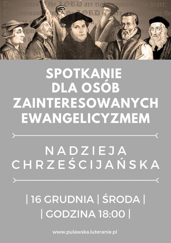 16.12.2020 Spotkanie osób zainteresowanych ewangelicyzmem