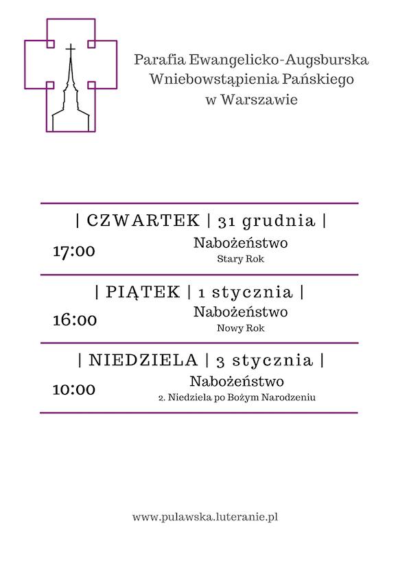 28.12-03.01 - plan tygodnia